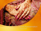 Art & Entertainment: Mehndi Designs PowerPoint Template #10681