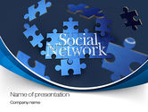 Careers/Industry: Building Social Network PowerPoint Template #10682