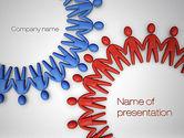 Business Concepts: Plantilla de PowerPoint - engranaje humano #10683