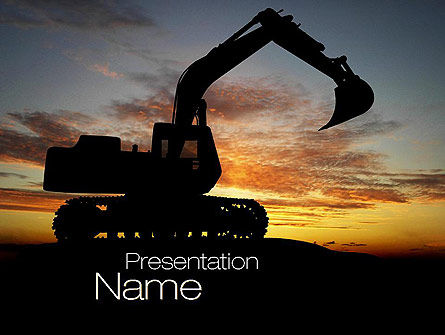 excavating contractor powerpoint template backgrounds