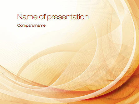 Abstraction in a Sand Color PowerPoint Template, 10686, Abstract/Textures — PoweredTemplate.com