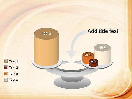 Abstraction in a Sand Color PowerPoint Template Slide 10