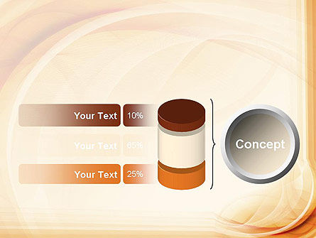 Abstraction in a Sand Color PowerPoint Template Slide 11