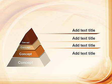 Abstraction in a Sand Color PowerPoint Template Slide 12
