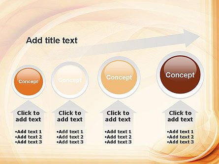 Abstraction in a Sand Color PowerPoint Template Slide 13