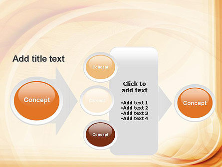 Abstraction in a Sand Color PowerPoint Template Slide 17