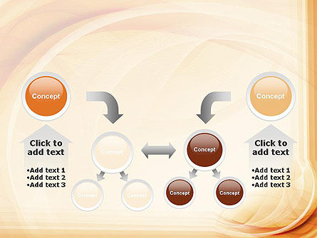 Abstraction in a Sand Color PowerPoint Template Slide 19