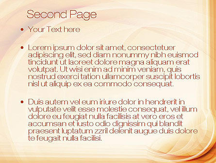 Abstraction in a Sand Color PowerPoint Template Slide 2