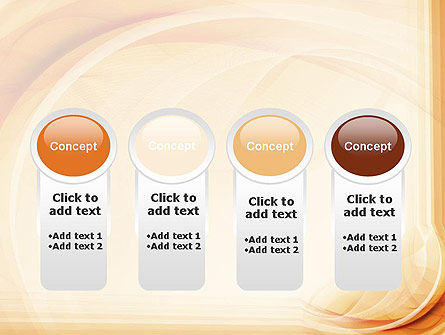 Abstraction in a Sand Color PowerPoint Template Slide 5