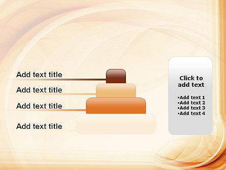 Abstraction in a Sand Color PowerPoint Template Slide 8