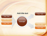Abstraction in a Sand Color PowerPoint Template#14