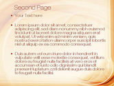 Abstraction in a Sand Color PowerPoint Template#2