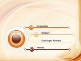 Abstraction in a Sand Color PowerPoint Template#3