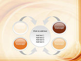 Abstraction in a Sand Color PowerPoint Template#6
