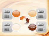 Abstraction in a Sand Color PowerPoint Template#9