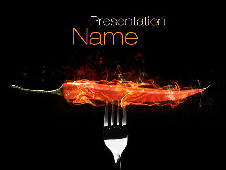 Burning Hot Chili Pepper PowerPoint Template