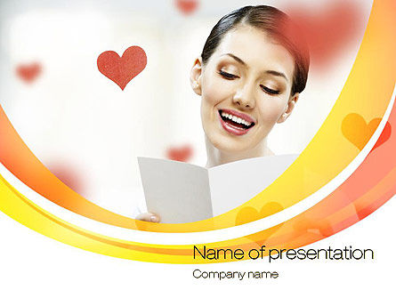 Valentine's Day Card PowerPoint Template, 10691, Holiday/Special Occasion — PoweredTemplate.com