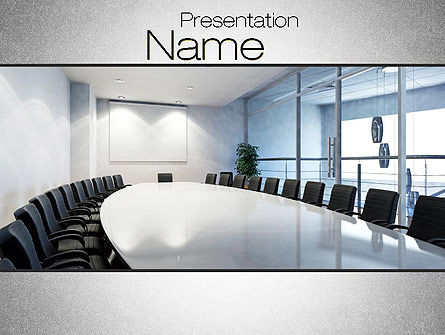 Executive Conference Room PowerPoint Template, 10692, Business — PoweredTemplate.com
