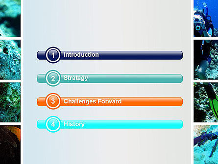 Scuba Diving Lessons PowerPoint Template, Slide 3, 10693, Education & Training — PoweredTemplate.com