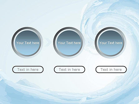 Pastel Blue Wave PowerPoint Template Slide 5