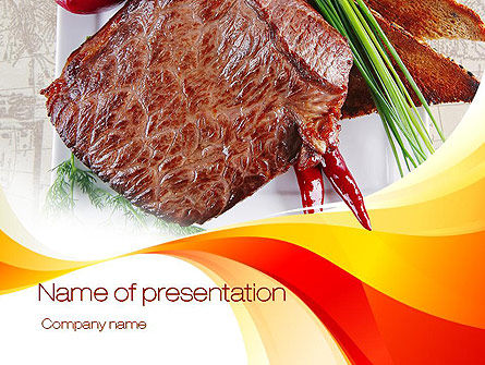 Food & Beverage: Steak PowerPoint Template #10695