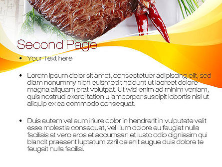 Steak PowerPoint Template Slide 2