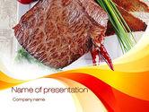 Food & Beverage: Steak PowerPoint Template #10695