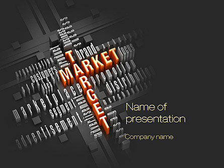 Market Target PowerPoint Template, 10697, Careers/Industry — PoweredTemplate.com