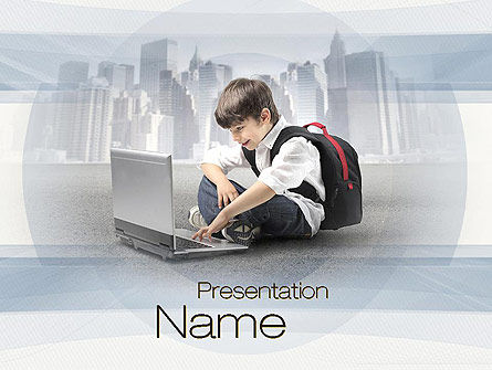 Education & Training: Computer Education PowerPoint Template #10698