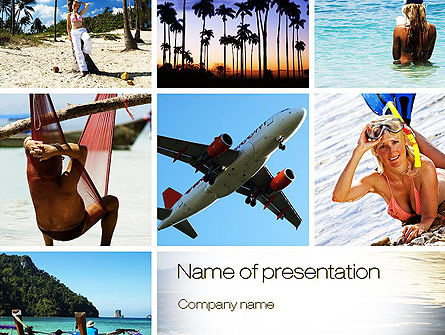 Vacation Collage PowerPoint Template, 10699, Careers/Industry — PoweredTemplate.com