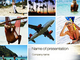 Careers/Industry: Plantilla de PowerPoint - collage de vacaciones #10699