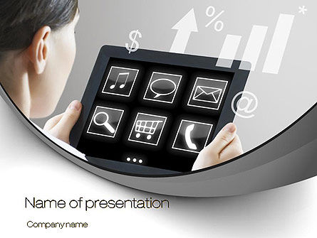 Tablet PC PowerPoint Template, 10700, Business Concepts — PoweredTemplate.com