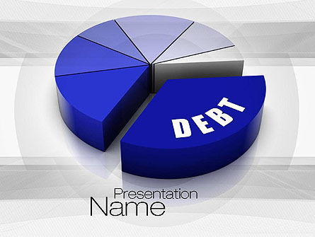 Debt Pie Chart PowerPoint Template
