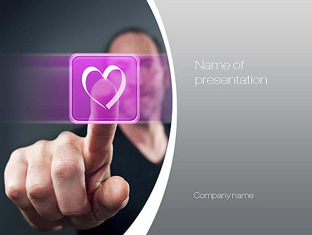 Technology and Science: Virtual Love PowerPoint Template #10702