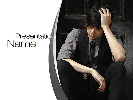 Upset PowerPoint Template, 10703, People — PoweredTemplate.com