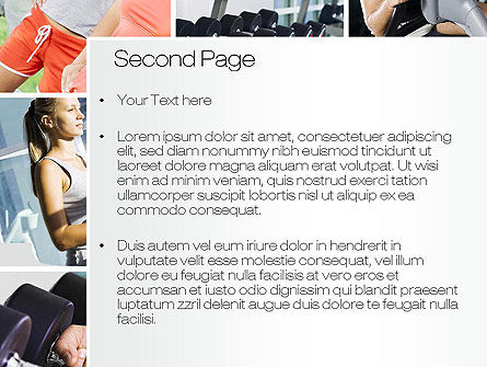 Fitness Collage PowerPoint Template, Slide 2, 10704, People — PoweredTemplate.com
