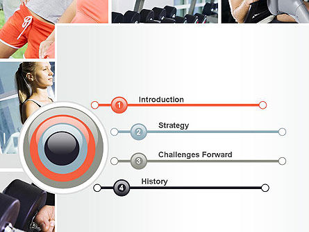 Fitness Collage PowerPoint Template, Slide 3, 10704, People — PoweredTemplate.com