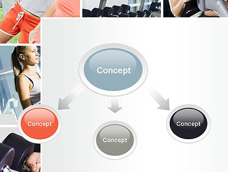 Fitness Collage PowerPoint Template, Slide 4, 10704, People — PoweredTemplate.com