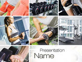 People: Fitness Collage PowerPoint Template #10704
