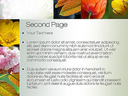 Flowers Collage PowerPoint Template, Slide 2, 10706, Nature & Environment — PoweredTemplate.com