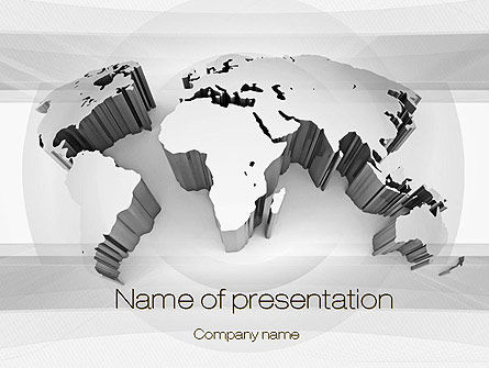 3D World Map PowerPoint Template, 10707, Global — PoweredTemplate.com