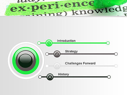 Experience PowerPoint Template, Slide 3, 10708, Education & Training — PoweredTemplate.com