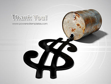 Oil Dollar PowerPoint Template Slide 20