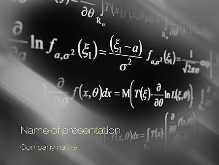 Equations PowerPoint Template, 10711, Education & Training — PoweredTemplate.com