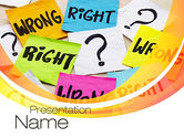 Education & Training: Right or Wrong PowerPoint Template #10712