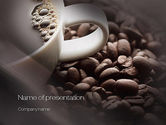 Food & Beverage: Modèle PowerPoint de grains de café #10715