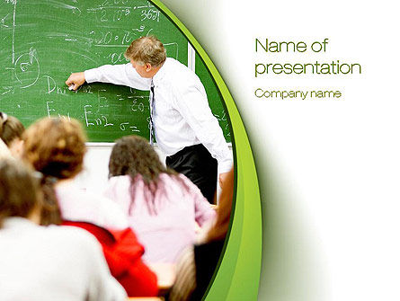Education & Training: College Class PowerPoint Template #10716