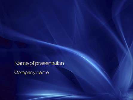 Abstract/Textures: Abstract Blue Flame PowerPoint Template #10719