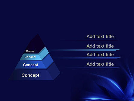 Abstract Blue Flame PowerPoint Template Slide 12