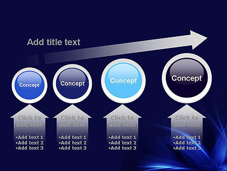 Abstract Blue Flame PowerPoint Template Slide 13